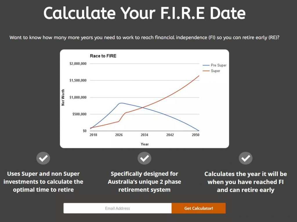 Aussie Firebug FIRE calculator