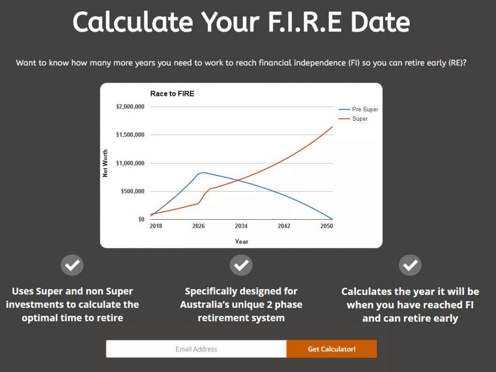 Aussie Firebug FIRE calculator