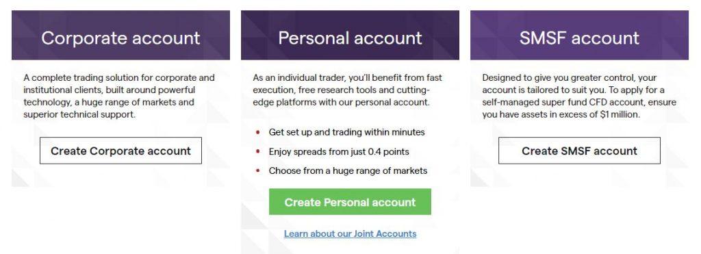 IG markets share accounts