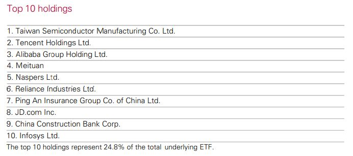 This VGE review includes an overview of the top 10 VGE holdings